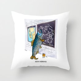 Keith Herring Throw Pillow
