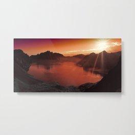 Sunset coucher de soleil Metal Print