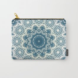 Creamy and blue mandala pattern Carry-All Pouch