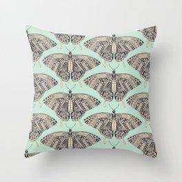 swallowtail butterfly mint basalt Throw Pillow