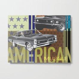 American Muscle Metal Print