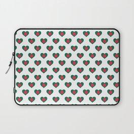 Bangladesh Love flagMotif Repeat Pattern design background  Laptop Sleeve