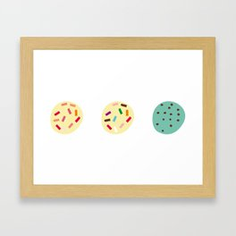 Three scoops Framed Art Print