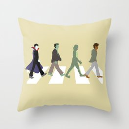 Abbey Road Monsters Throw Pillow