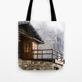 Alpine hut (chalet) Tote Bag