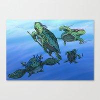ninja turtles Canvas Prints featuring Ninja Turtles by MrDenmac