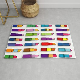 Colorful Lipsticks Girly Beauty Make-up Pattern  Rug