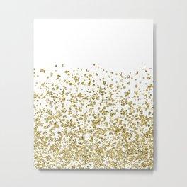 Gilded confetti Metal Print