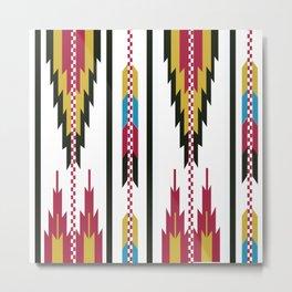 American Native Pattern No. 42 Metal Print