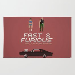 Pixel Art Fast And Furious Rug