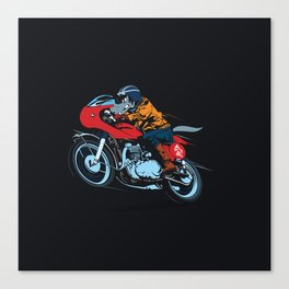 Wolf caferacer Canvas Print