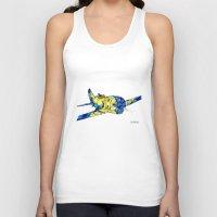 airplane Tank Tops featuring Airplane by Irina  Mushkar'ova