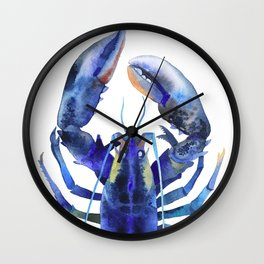 Blue Lobster №1 Wall Clock