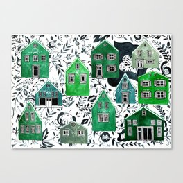 Scandinavian village Canvas Print