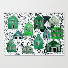 Scandinavian village Canvas Print