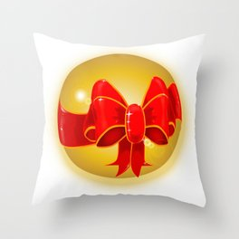 Bow Globe Throw Pillow