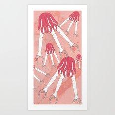 mechanic hands Art Print