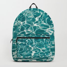 Turquoise Poolside Reflections Backpack
