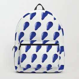 Blue balloons. Backpack
