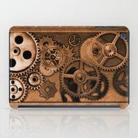 steam punk iPad Cases featuring Steam Punk Gears by GrimDork