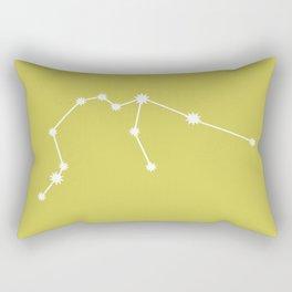 Aquarius Zodiac Constellation - Vibrant Green Rectangular Pillow