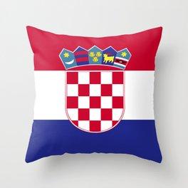 Croatia flag emblem Throw Pillow