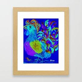 Rooster Blues Framed Art Print