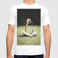 Invisible MEDIUM Mens Fitted Tee White