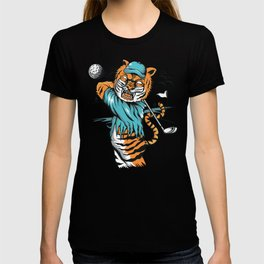 Tiger golfer WITH cap T-shirt