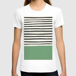 Moss Green x Stripes T-shirt