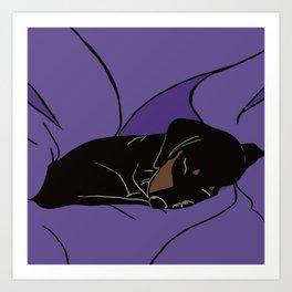 Sleeping Dachshund Puppy Art Print