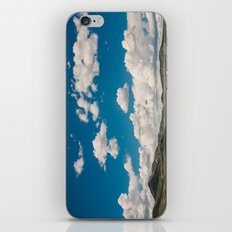 Puffy White Clouds with Blue Sky and Green Meadow Hills iPhone & iPod Skin