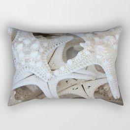 White Starfish Rectangular Pillow