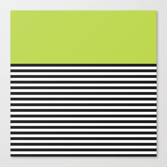 STRIPE COLORBLOCK {LIME} Canvas Print
