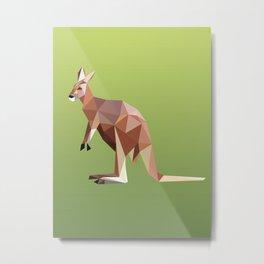 Geometric Kangaroo Metal Print