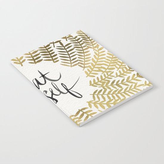 Treat Yo Self – Gold Notebook