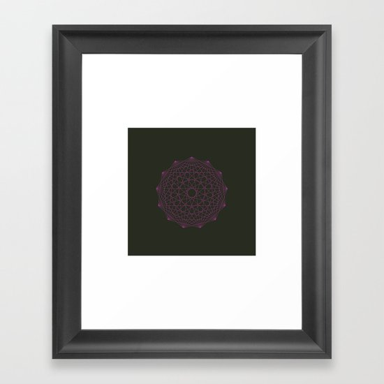 #358 Thirteen pointed star – Geometry Daily Framed Art Print