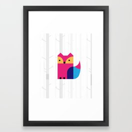 THE MISSING SCARF - Fox Framed Art Print