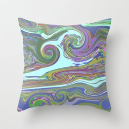 BRIGHT MIX Throw Pillow