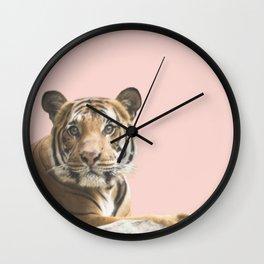 Pink Tiger Wall Clock