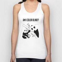 pandas Tank Tops featuring Pandas by Raaz Herzberg