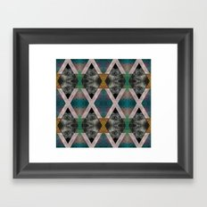 Trippin' on a mountain and falling into space Framed Art Print