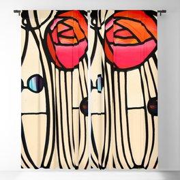 "Charles Rennie Mackintosh ""Stained glass window"" Blackout Curtain"