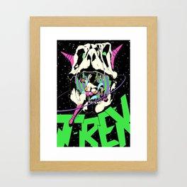 T-REX Color Framed Art Print