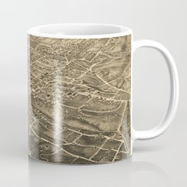 Vintage Pictorial Map of Asheville NC (1891) Coffee Mug