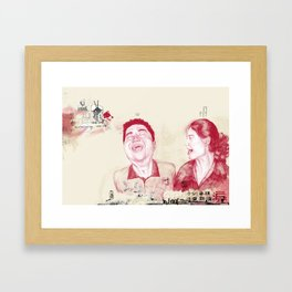 Fun in a Hotel Room Framed Art Print
