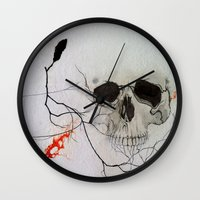 rogue Wall Clocks featuring Rogue by Art of Jason Coe
