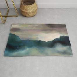 Early Morning Clouds Consume the Mountains Rug
