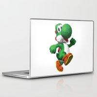 yoshi Laptop & iPad Skins featuring Yoshi Geometric by ThisTinyBean.