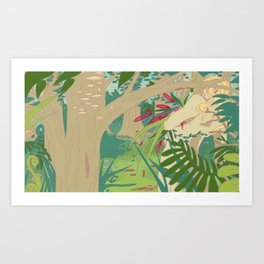 in the swamp Art Print